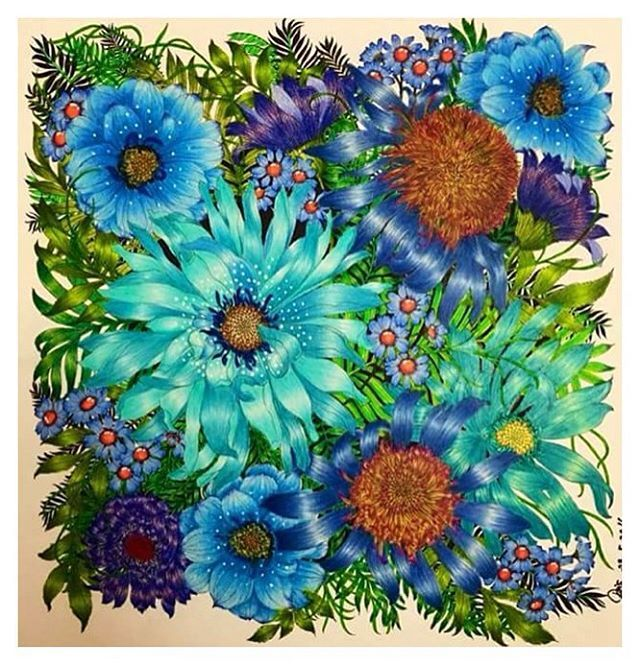 For all the blue lovers out there Pris David posted her colouring on my…