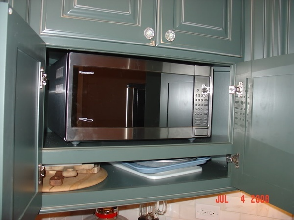 Countertop Microwave Cabinet : Countertop microwave cabinet. Posted to Gardenweb.com by user edlakin ...