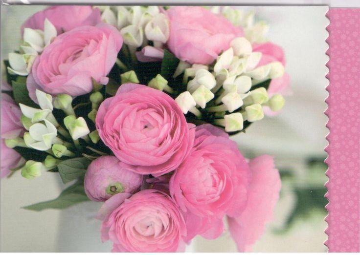 Kaart met afbeelding boeket bloemen