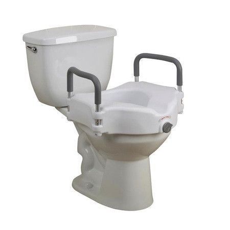 CAREX RAISED TOILET SEAT WITH ARMRESTS