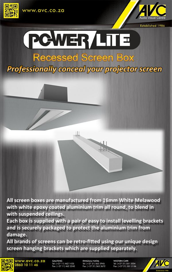 Powerlite recessed screen box