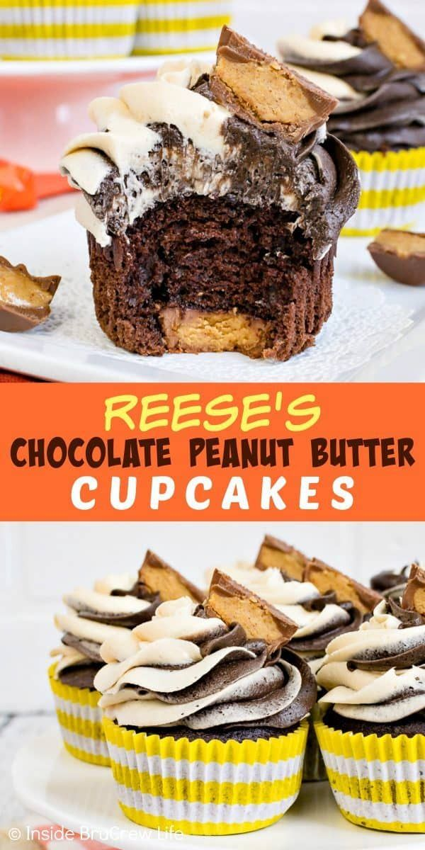 Reese's Chocolate Peanut Butter Cupcakes – swirls …