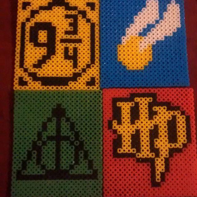 Harry Potter coasters perler beads by kurirose