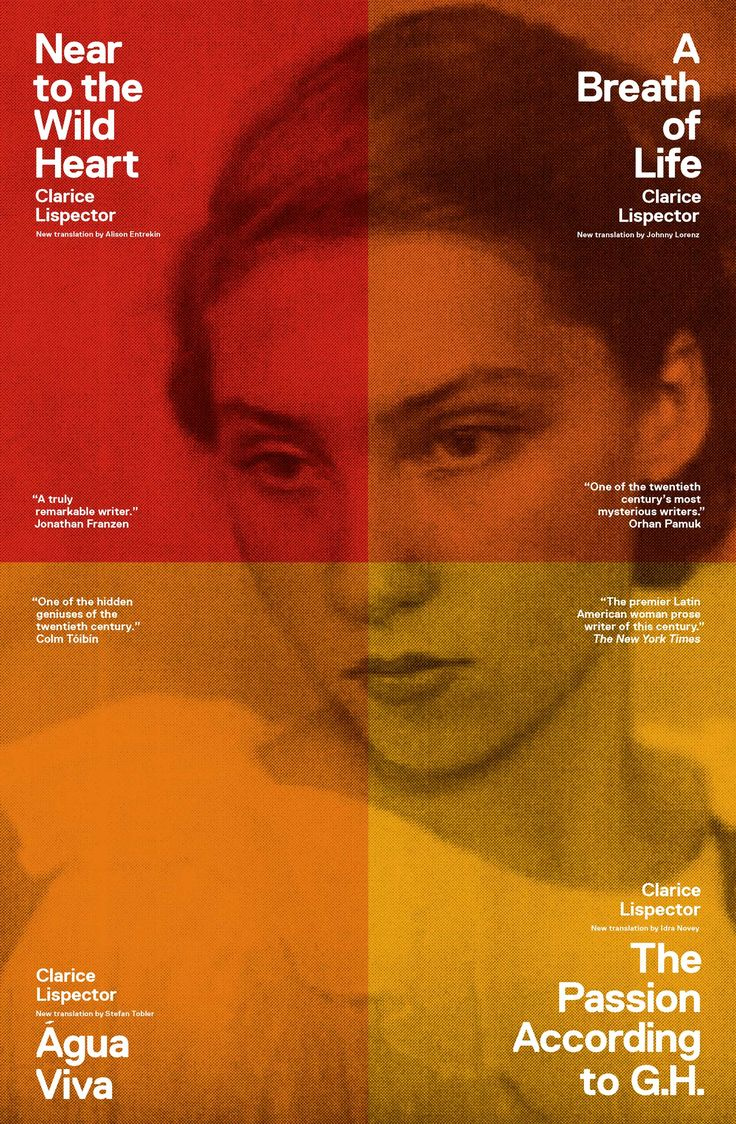 Four beautiful Clarice Lispector novels. Amazing New Directions cover design.