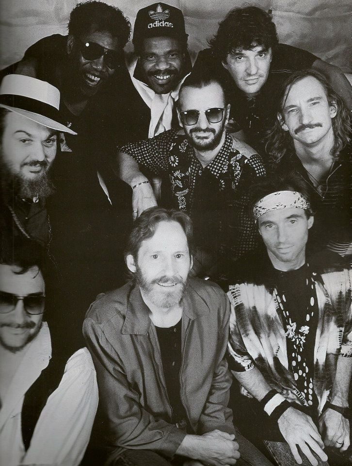 Ringo's All Starr Band with Jim Keltner, Dr. John, Clarence Clemons, Levon Helm, Billy Preston, Ringo Starr, Rick Danko, Nils Lofgren and Joe Walsh.