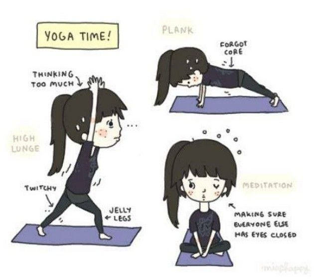 17 Best images about Yoga Comics on Pinterest | Yoga poses ...