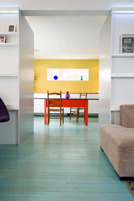 Trend Watch: Stained Wood Floors in Bold, Bright Colors