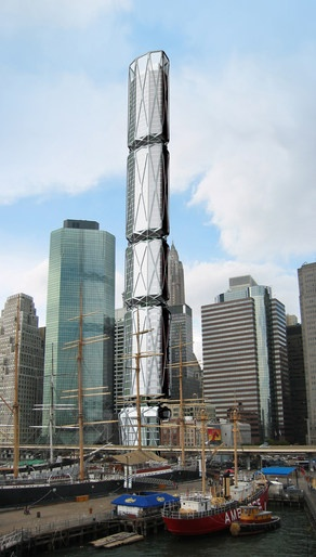 South street tower in New York by ARCHI-TECTONICS