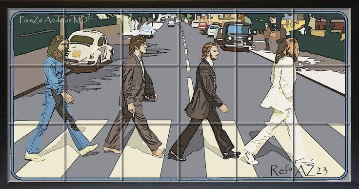 58 beste idee n over abbey road op pinterest abbey road for Abbey road mural