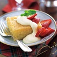 Lemon Syrup Cake with Berries and Lemon-Curd Cream