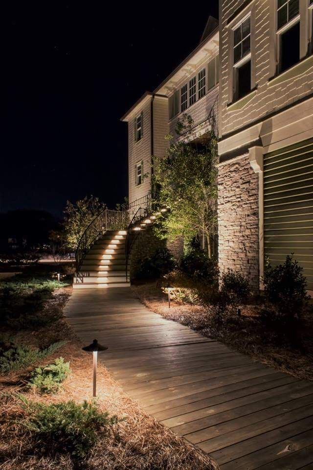 Custom Landscape Lighting Can Help Protect Your Home From Theft And Burglary Landscape Lighting Holiday Lights Outdoor Outdoor Lighting