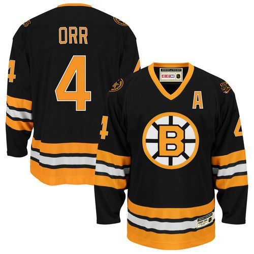CCM Bobby Orr Boston Bruins Heroes of Hockey Jersey - Black - NHL #CCM #BostonBruins