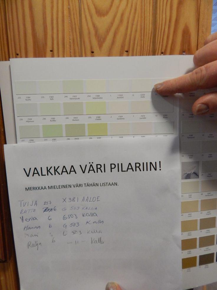 Toivolansaarikoti 2016 vk7    Kataja-kodissa oli värivaalit . Valkkaa väri pilariin -vaalin voitti väri Kalla.