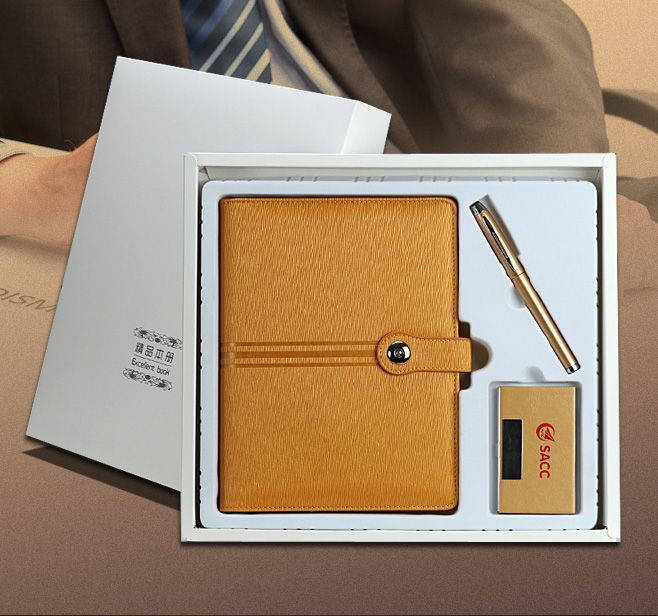 we launched some leather notebook set in 2016, such as notebook+pen set, notebook organizer+pen+card holder set, notebook+pen+card holder +USB flash drive set, notebook+pen+USB set, notebook+pen+power