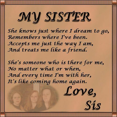 Thinking Of You Sister Poems