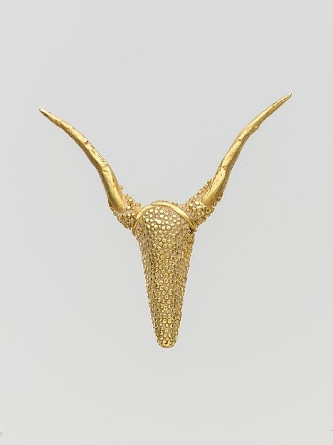 Gold Pendant with granulated Ornament Late Bronze Age c.1400-1050 BC Cypriot (Source: The Met Museum)
