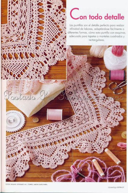 Crochet edging A: