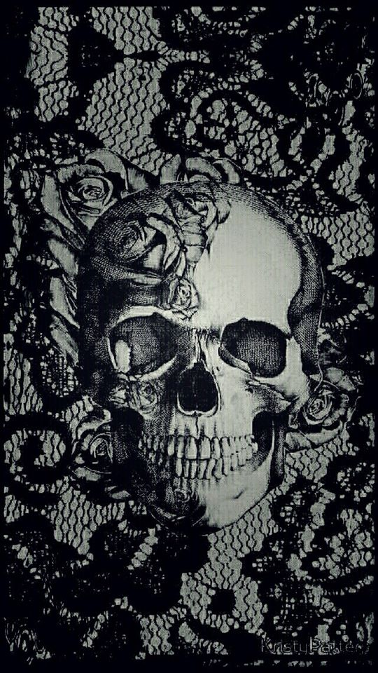 iPhone wallpaper #skull #dark