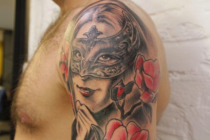 woman tattoo, arm tattoo, 77 ink