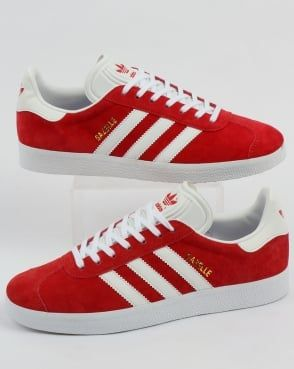 adidas Trainers Adidas Gazelle Trainers Red White  6f6c5fb1d