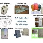 This bundle has 7 different foldables.    *Naming Angle Pairs forms by 2 parallel lines cut by a transversal *Writing equations for congruent and s...