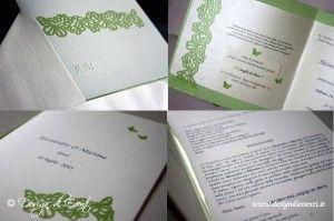 Partecipazioni di nozze e inviti di Compleanno verde mela