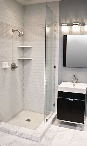 25 best ideas about corner showers on pinterest small - Basement bathroom cost calculator ...