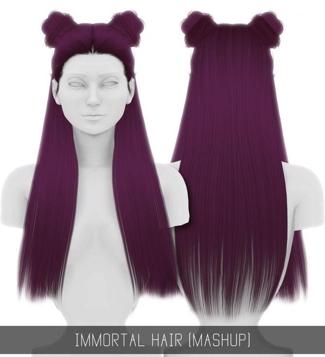 IMMORTAL HAIR (MASHUP) at Simpliciaty • Sims 4 Updates