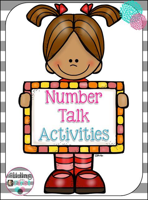 Number Talks in First Grade, Sliding into First!, math talks, number talks, addition, subtraction, 1st grade, freebie, math, how to use number talks in primary grades