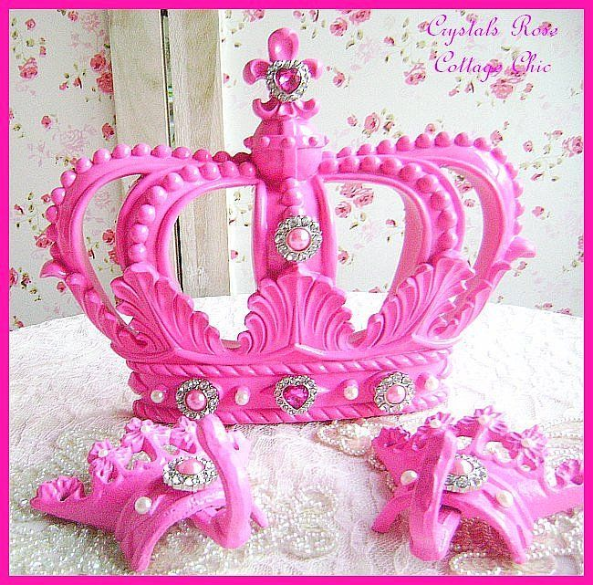 Hot Pink Fleur de Lis Bed Crown Canopy