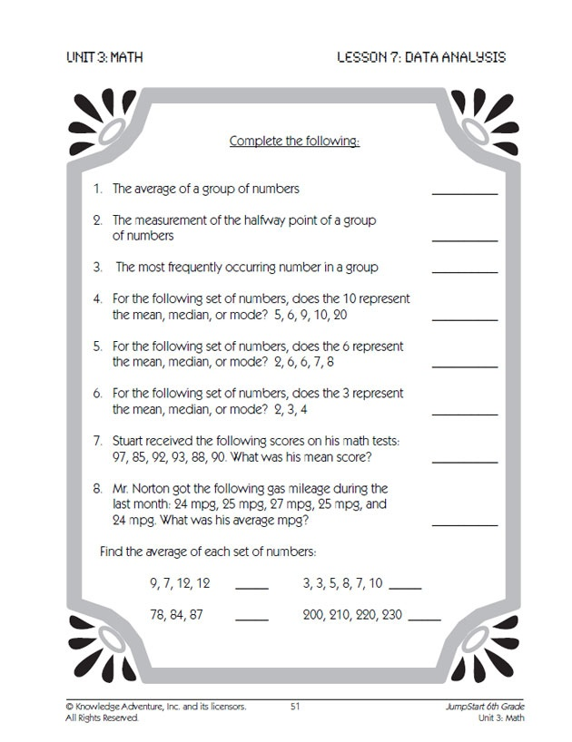 Mean Median Mode Worksheet Teaching Math Pinterest