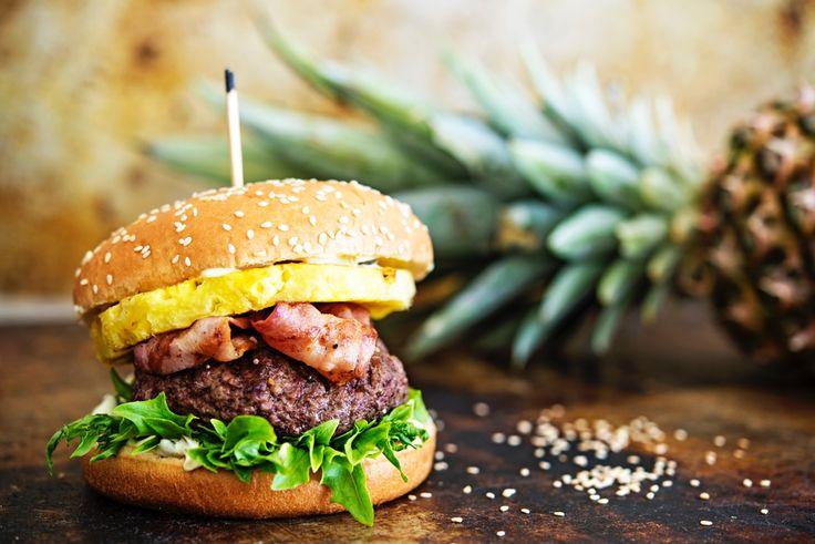 Ananas-bbq-burgeri – Vaasan