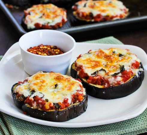 Easy Healthy Dinner Ideas - Eggplant Pizzas - Click Pic for 38 Easy Healthy Dinner Recipes