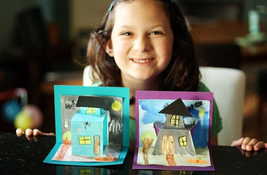 Spooky House Pop-Up Cards | Make and Takes.  Full directions