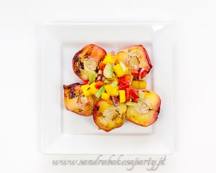 Grilled peaches and limes. Great ending to your summer barbecue!