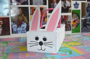 Tissue Box Bunnies! The perfect little treat basket.