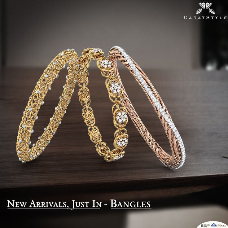 Shop the true significance of cultural accessories ~ Bangles; New 50+ Designs.  #diamond #gold #bangles #diamondbangles #goldbangles #banglesonlineshopping #broadbangles #casualbangles