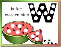 w is for watermelon activities