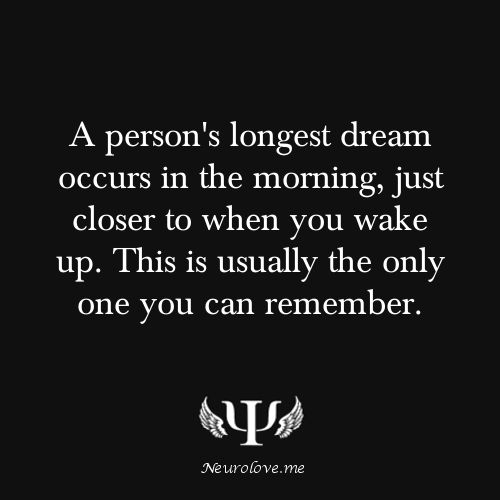 well i usually remember more than one dream but this might be why i want to go back to sleep and try to remember my dream, cuz so vivid #facts #dreams