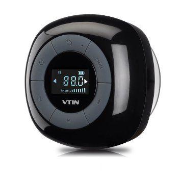 [Upgraded Version]VTIN Relaxer Mini Enceinte Bluetooth 4.0 Haut-Parleur Etanche Puissant avec Tuner FM Radio Ecran LCD Digital Pour les Appels/Siri pour iPhone 6/6 plus, 5/5s, Samsung Galaxy et Tous les Périphériques Bluetooth-Noir