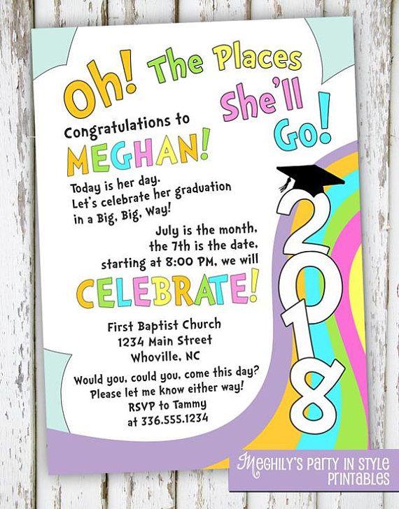 11 best graduation invitation images on Pinterest Graduation - fresh invitation wording for trunk party