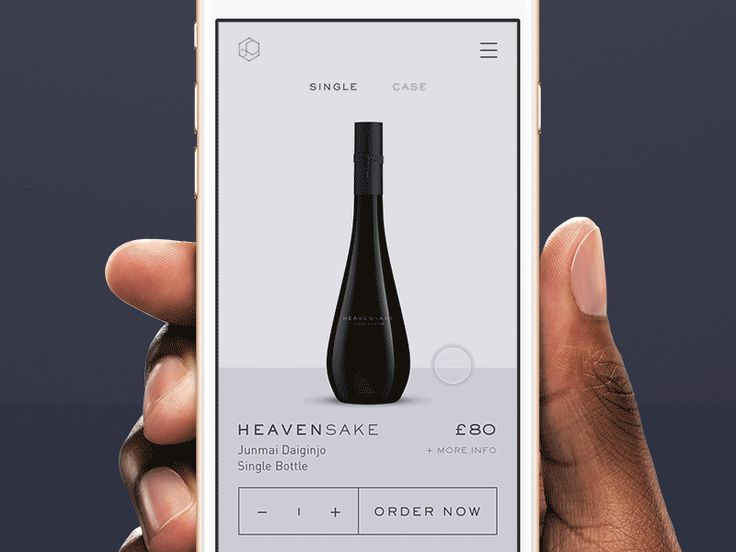 I've been animating some mobile interactions for an ecommerce app that will sell premium sake.  This was created in After Effects to prototype the various interactions.