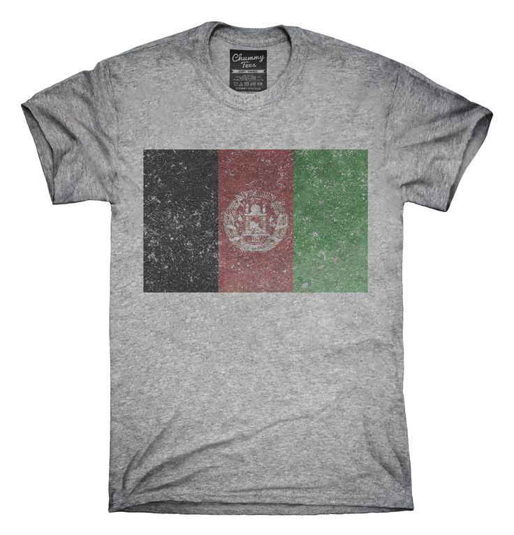 Retro Vintage Afghanistan Flag T-Shirts, Hoodies, Tank Tops