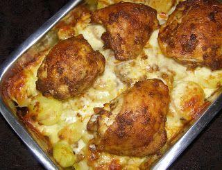 W Mojej Kuchni Lubię.. : ziemniaki z serem i podudziami...