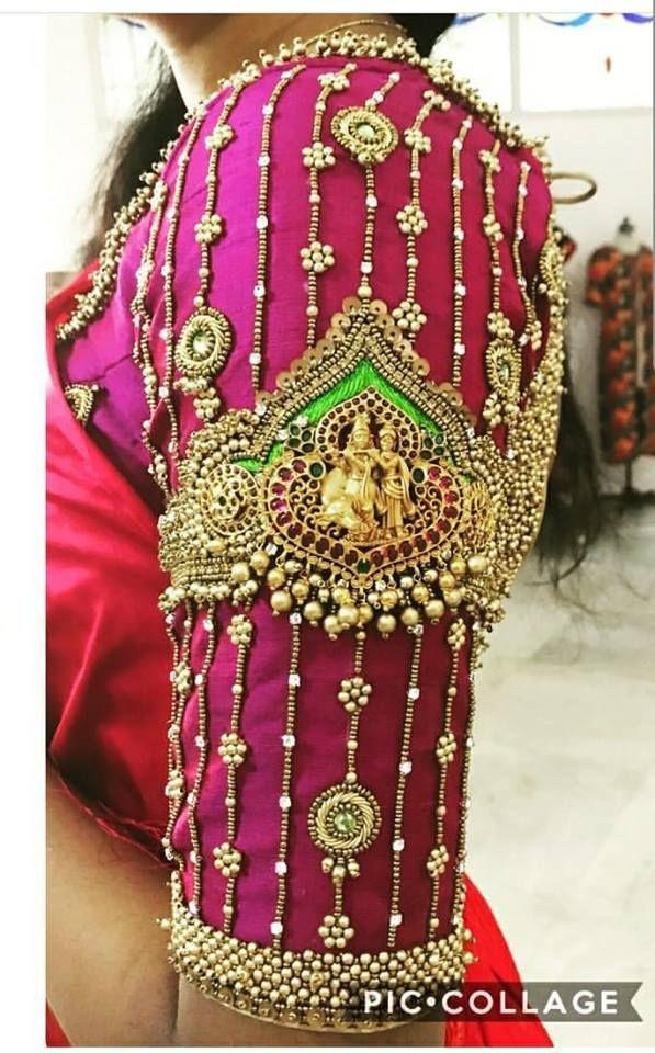 5824b7422bade8 Radha krishna bridal blouse | 40 Heavy Maggam work Bridal Blouse design for your  wedding in 2019 | Blouse designs, Bridal blouse designs, Blouse