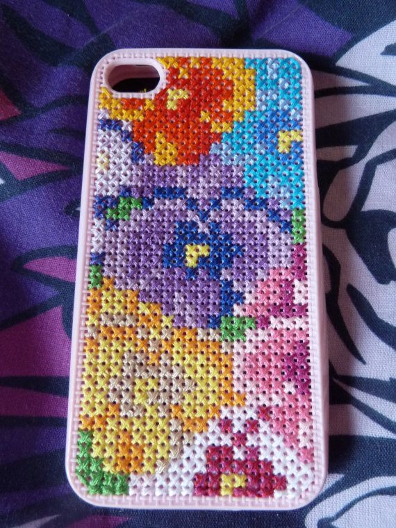 Floral Embroidered iPhone 4/4S Case by LesPetiteLoups on Etsy, £15.00