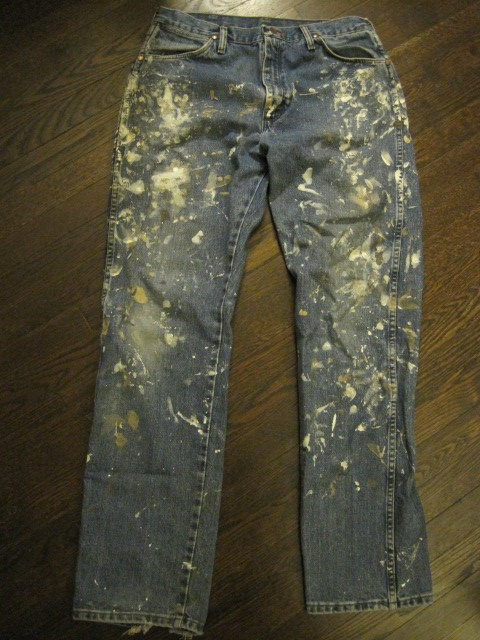 Distressed Painted Pants by nathanphillips1 on Etsy, $70.00: Paintings Pants, Current Obsession, Paintings Splatter, Quick Save, Men Wear, Distressed Paintings