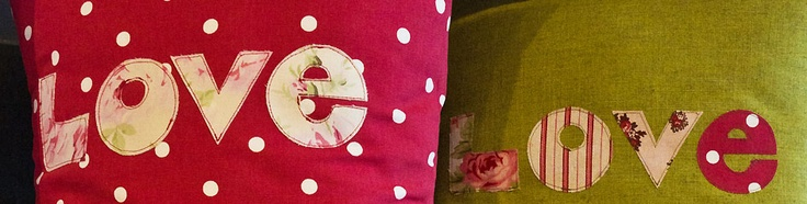 "Say ""I love you"" with these fab craft cushions.  www.mycarrick.ie"