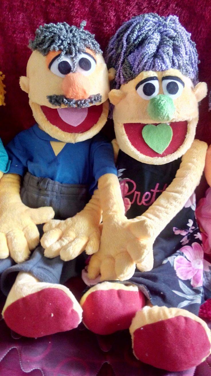 Daddy and Mum#galings puppet#fullB#rambut keriting
