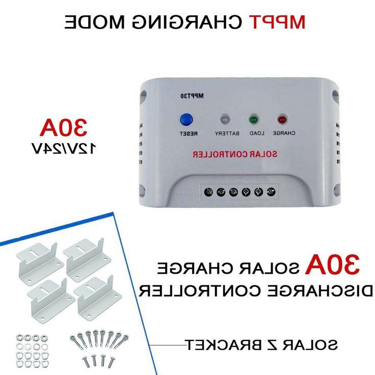 36.38$  Buy now - https://alitems.com/g/1e8d114494b01f4c715516525dc3e8/?i=5&ulp=https%3A%2F%2Fwww.aliexpress.com%2Fitem%2F30A-12V-24V-Intelligent-MPPT-Solar-Panel-Regulator-Battery-Charge-Controller-4X-Z-bracket-Mount-Flat%2F32770601614.html - 30A 12V 24V Intelligent MPPT Solar Panel Regulator Battery Charge Controller+4X Z bracket Mount Flat Roof Wall Aluminum Set EH